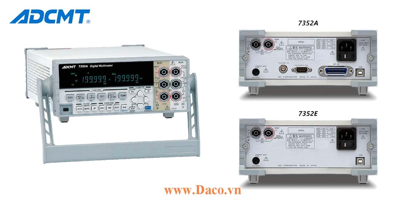 7352A Đồng hồ đo vạn năng kỹ thuật số ADCMT, 2 Kênh, giao tiếp GPIB, USB, RS232