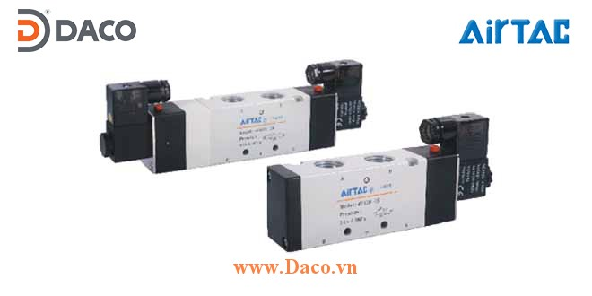 4V430P-15 Van điện từ khí nén Airtac Van đôi 5/3, Presure Center, 220 VAC