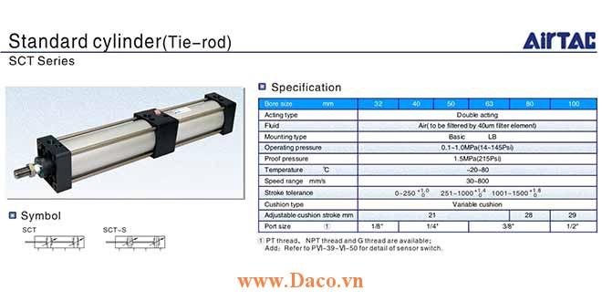 SCT Cylinder Xi lanh khí nén Airtac