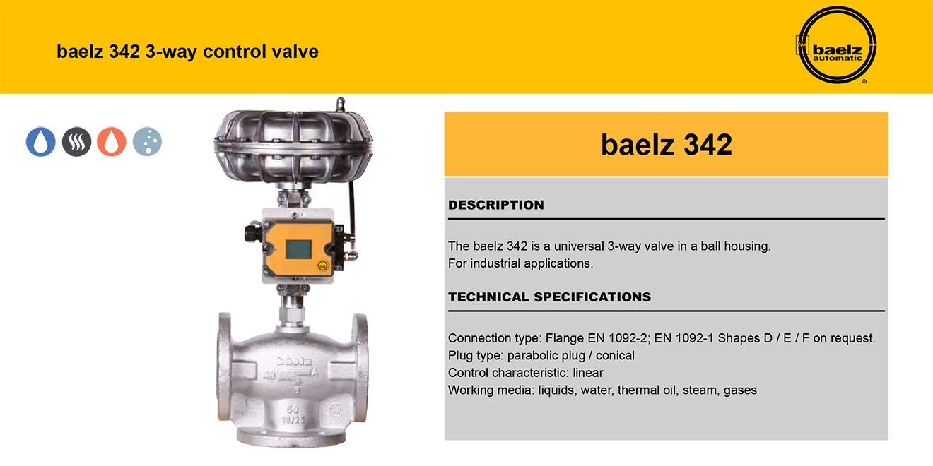 Baelz-342 Van điều khiển 3 cửa Germany-Chất lỏng-Dầu-Khí