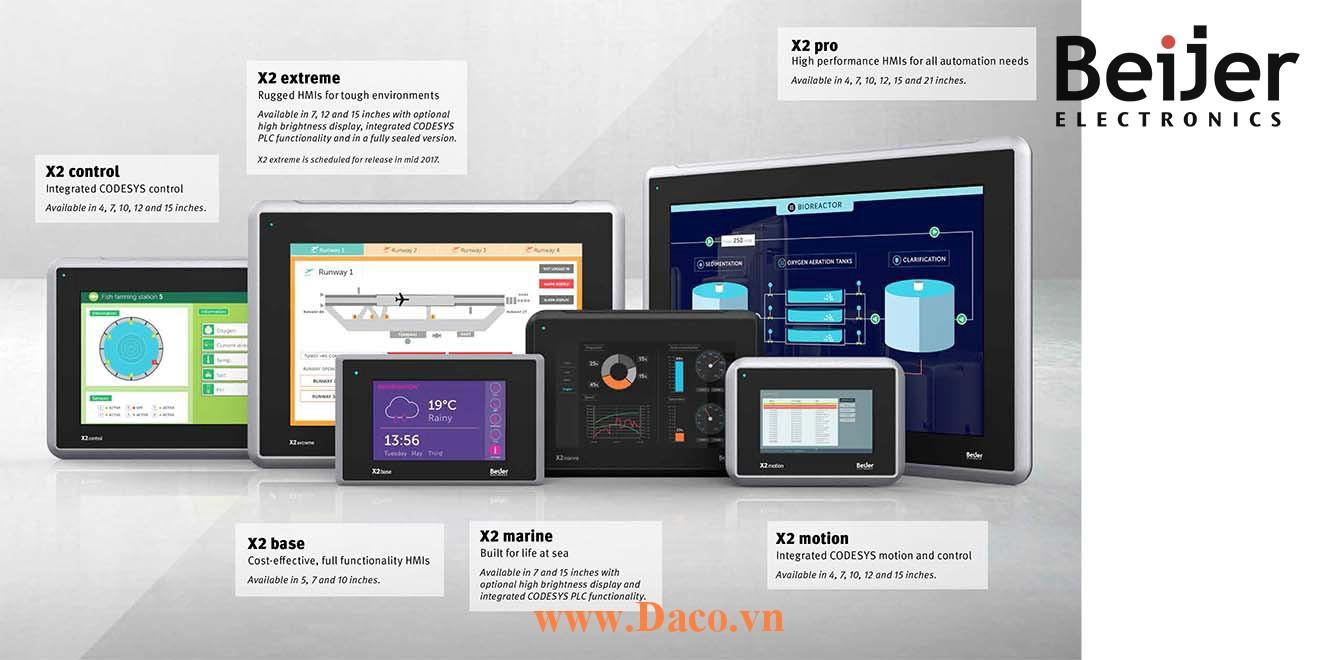 X2 Catalogue Beijer Tài liệu Màn hình cảm ứng HMI Beijer X2 Series, iX Developer