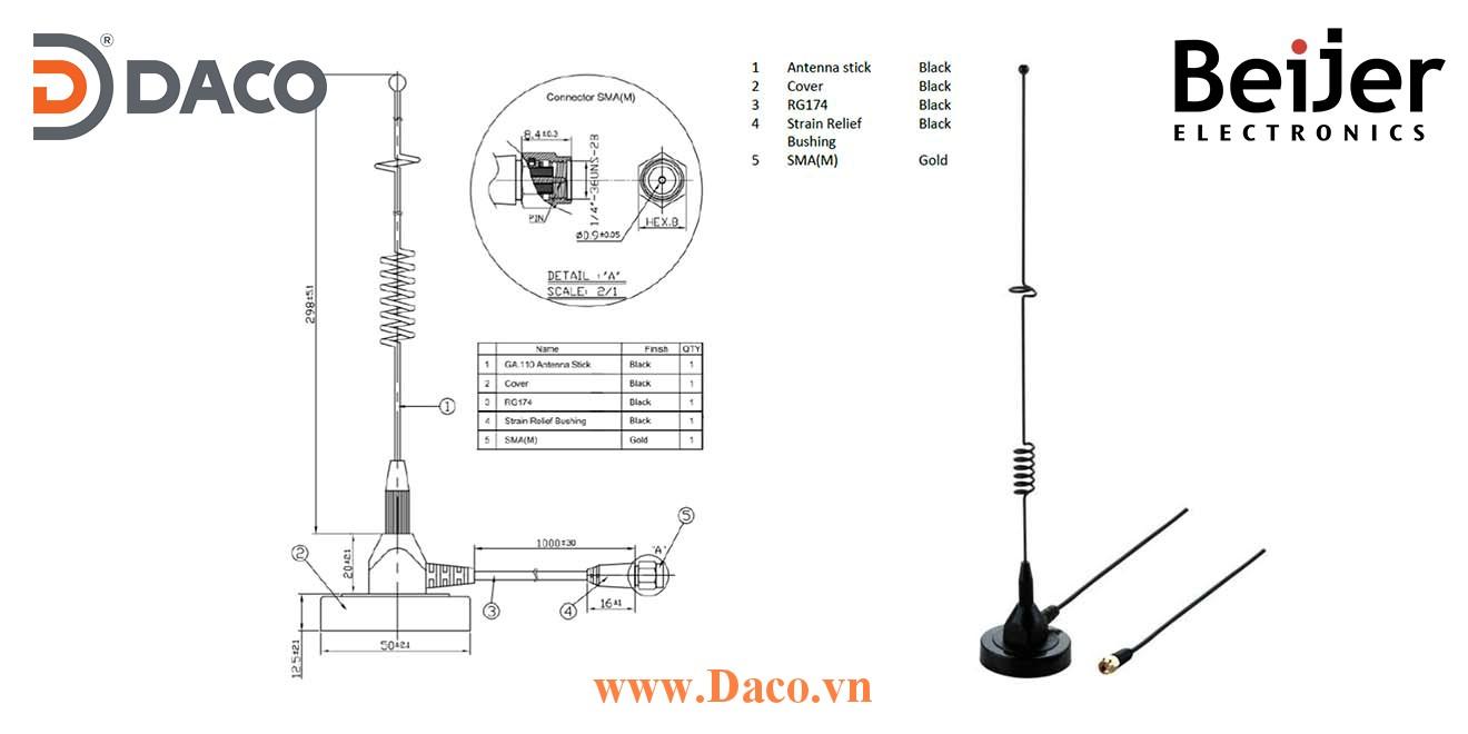 601-0003 Anten có đế hút dính băng rộng CloudVPN Gateway Beijer