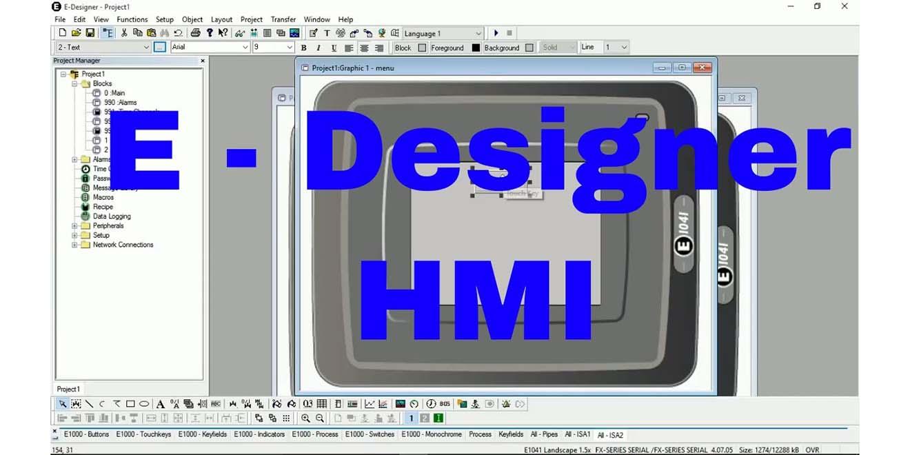 E-Designer Phần mềm lập trình HMI Beijer