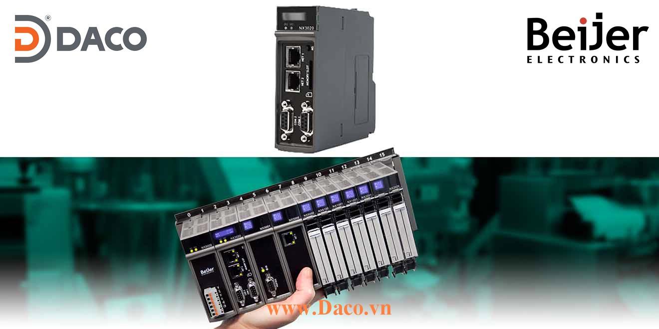 BCS-NX3020 Module điều khiển CPU quản lý mở rộng 24 rack, 128 Module Beijer PLC Nexto Module