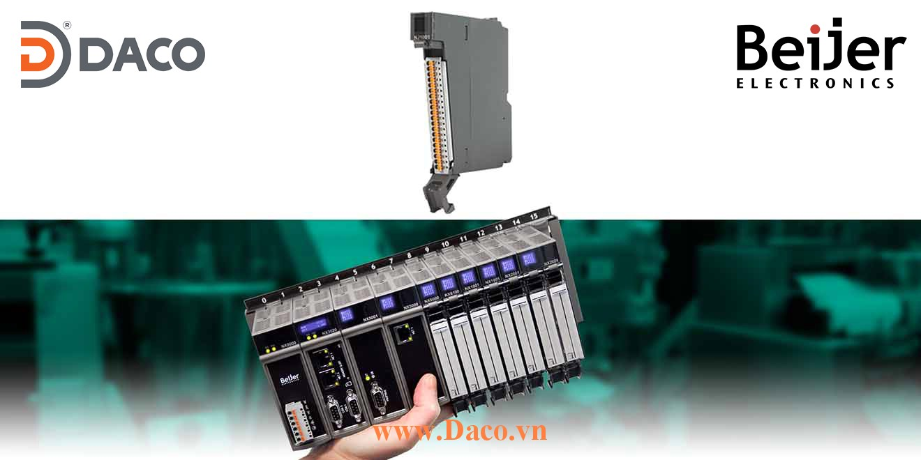 BCS-NJ1001 Module mở rộng vào ra số DI=16 Relay Beijer PLC Nexto Module