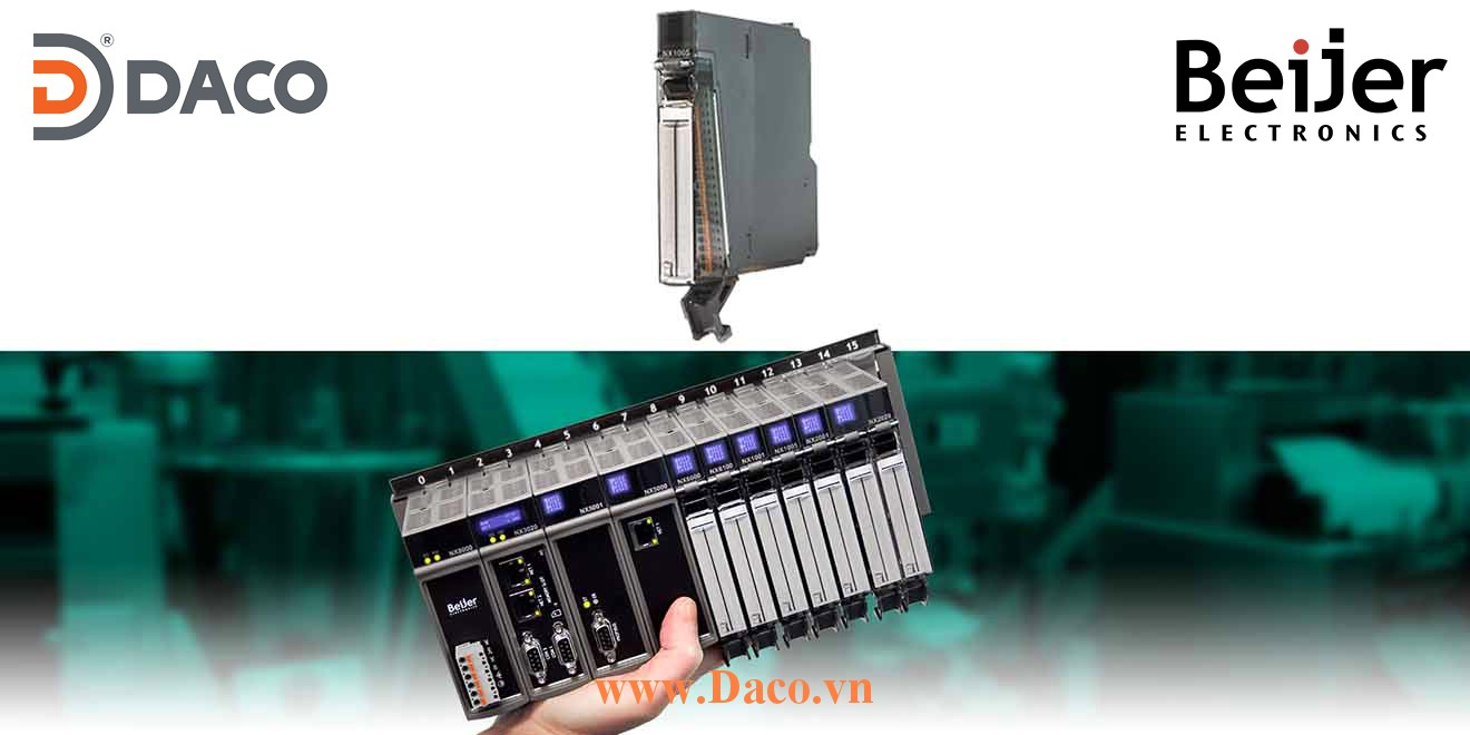 BCS-NX1005 Module mở rộng vào ra số DI=8 Relay DO=8 Relay Beijer PLC Nexto Module