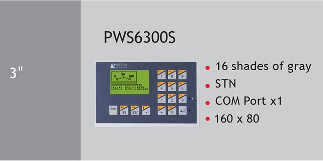 PWS6300 Màn hình cảm ứng HMI Hitech 3 Inch Mono STN LCD
