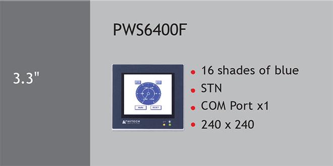 PWS6400F Màn hình cảm ứng HMI Hitech 3.3 Inch Mono STN LCD