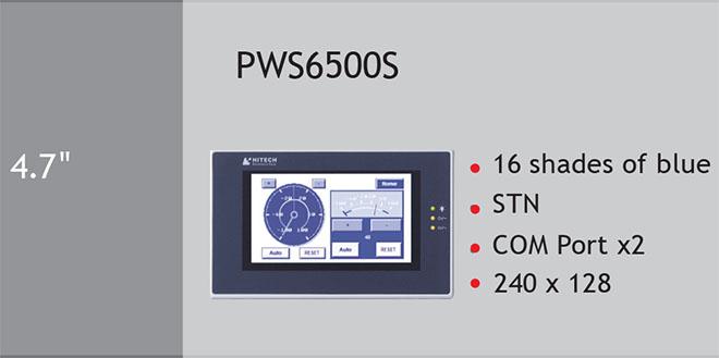 PWS6560S Màn hình cảm ứng HMI Hitech 4.7 Inch Mono STN LCD