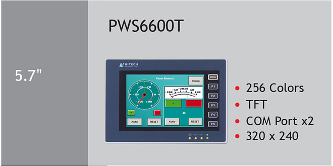 PWS6600T Màn hình cảm ứng HMI Hitech 5.7 Inch 256 Color