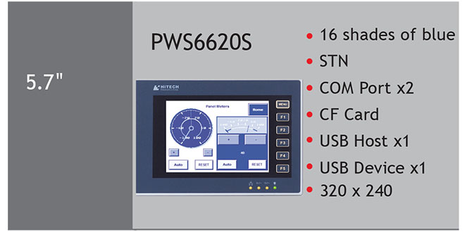 PWS6620S Màn hình cảm ứng HMI Hitech 5.7 Inch Mono STN LCD