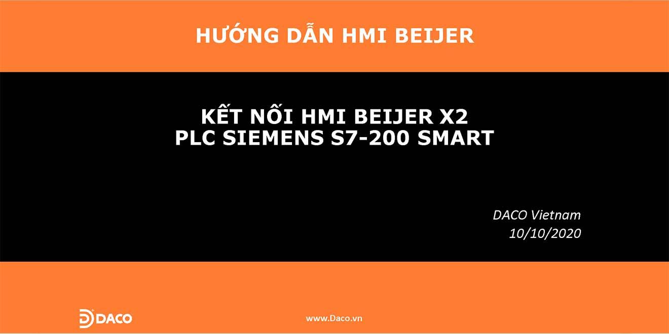 HDSD-Hướng Dẫn Kết Nối Màn Hình Cảm Ứng HMI Beijer X2 với PLC Siemens S7-200 Smart qua Ethernet