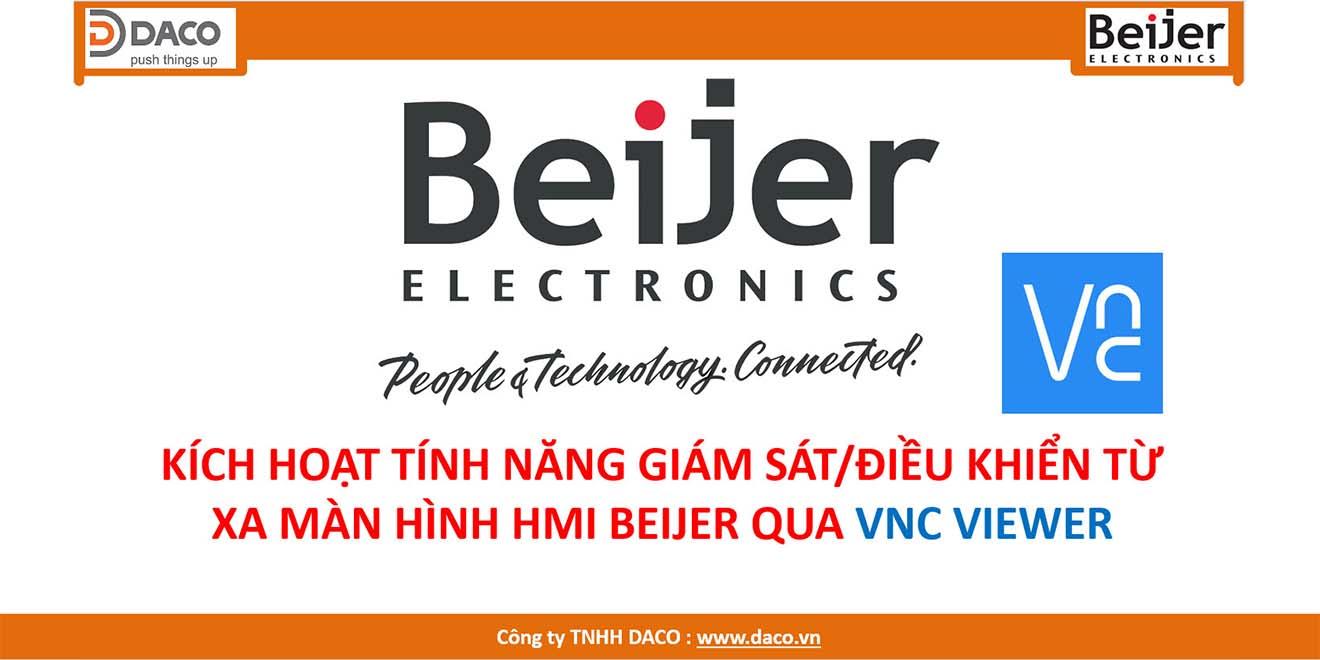 HDSD HMI Beijer-Kích hoạt tính năng Giám sát/Điều khiển từ xa qua VNC Viewer
