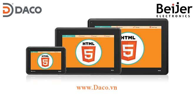 X2 extreme 12 HP web Beijer 12 Inch Màn hình cảm ứng HTML5, RS232/RS422/RS484/CAN/2x1GB RJ45, 2xUSB, SD Card