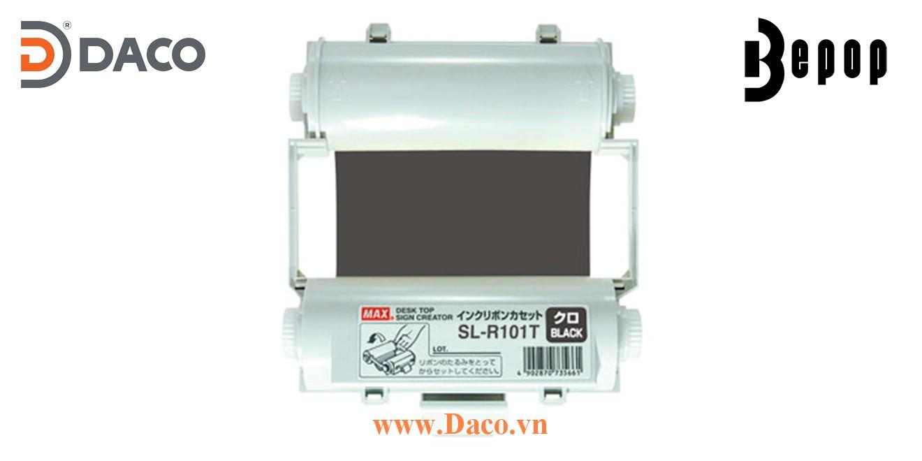 Băng mực in Bepop SL-R101T, Màu Đen, 110mm x 55m, Máy in cắt nhãn CPM100