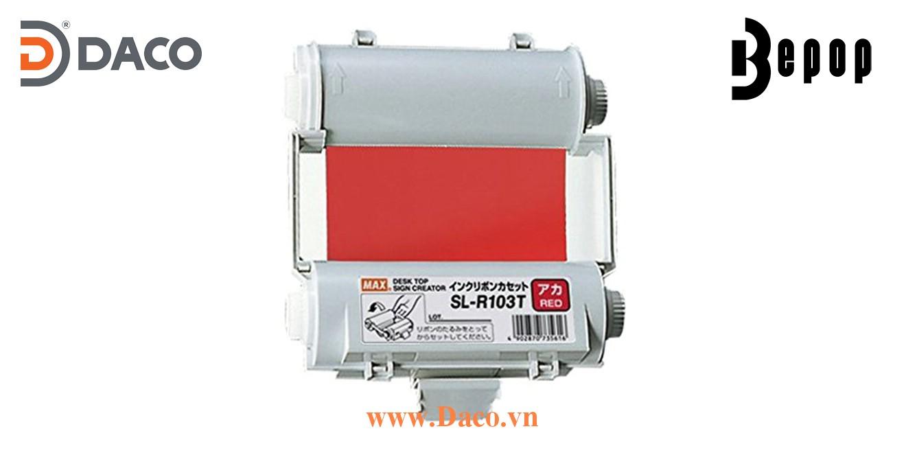 Băng mực in Bepop SL-R103T, Màu Đỏ, 110mm x 55m, Máy in cắt nhãn CPM100