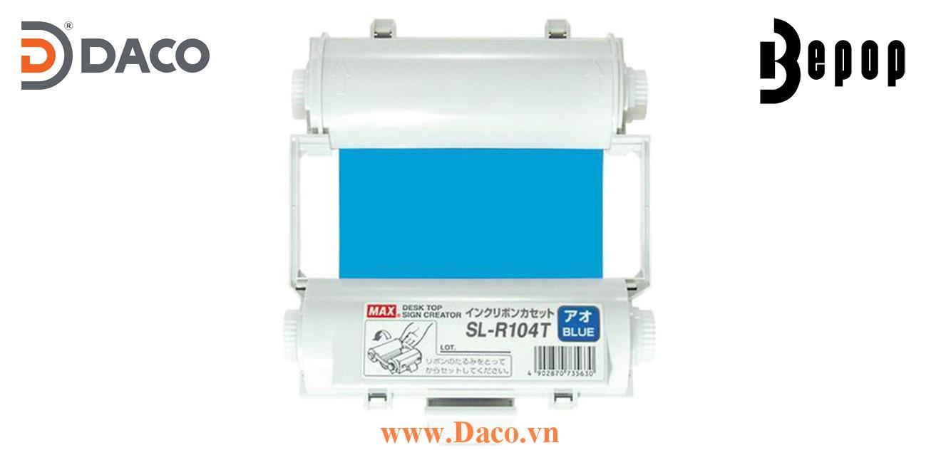 Băng mực in Bepop SL-R104T, Màu Xanh-Blue, 110mm x 55m, Máy in cắt nhãn CPM100