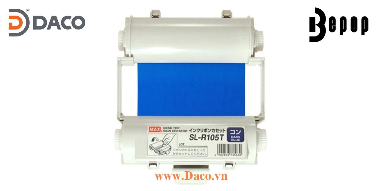 Băng mực in Bepop SL-R105T, Màu Xanh Blue Đậm, 110mm x 55m, Máy in cắt nhãn CPM100