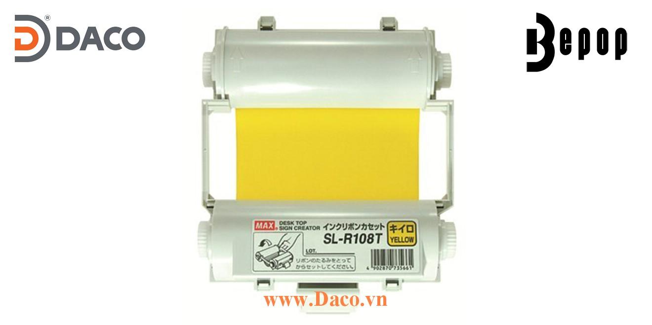 Băng mực in Bepop SL-R108T, Màu Vàng, 110mm x 55m, Máy in cắt nhãn CPM100