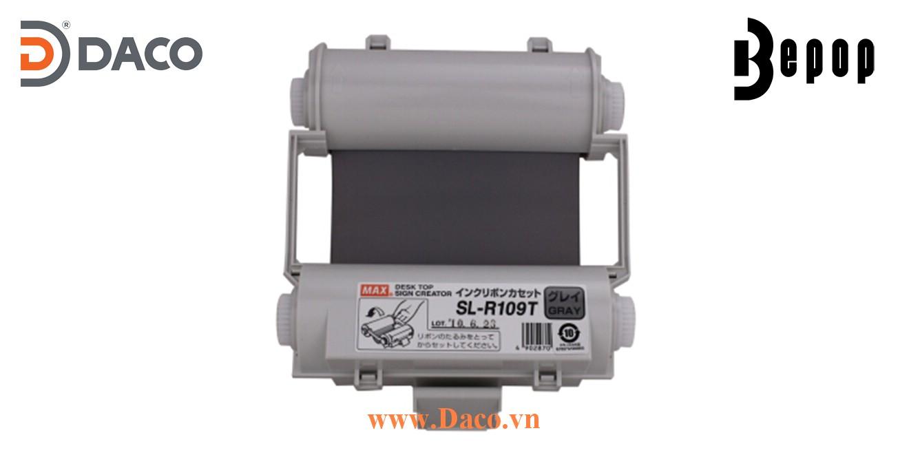 Băng mực in Bepop SL-R109T, Màu Xám, 110mm x 55m, Máy in cắt nhãn CPM100