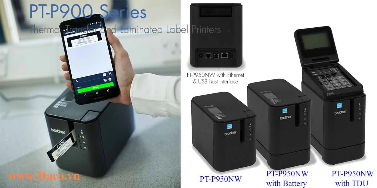 PT-P950NW Máy in nhãn đa lớp để bàn Brother 36mm Kết nối PC Wifi, LAN