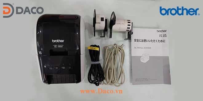 QL-800 Hình ảnh thực tế Máy in nhãn Giấy 2 màu để bàn Brother 62 mm