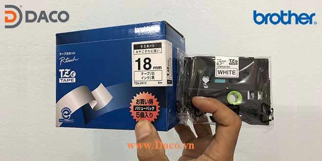 TZe-18mm Hình ảnh thực tế Băng nhãn máy in Tem nhãn Brother