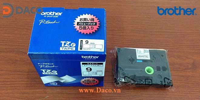 TZe-9mm Hình ảnh thực tế Băng nhãn máy in Tem nhãn Brother