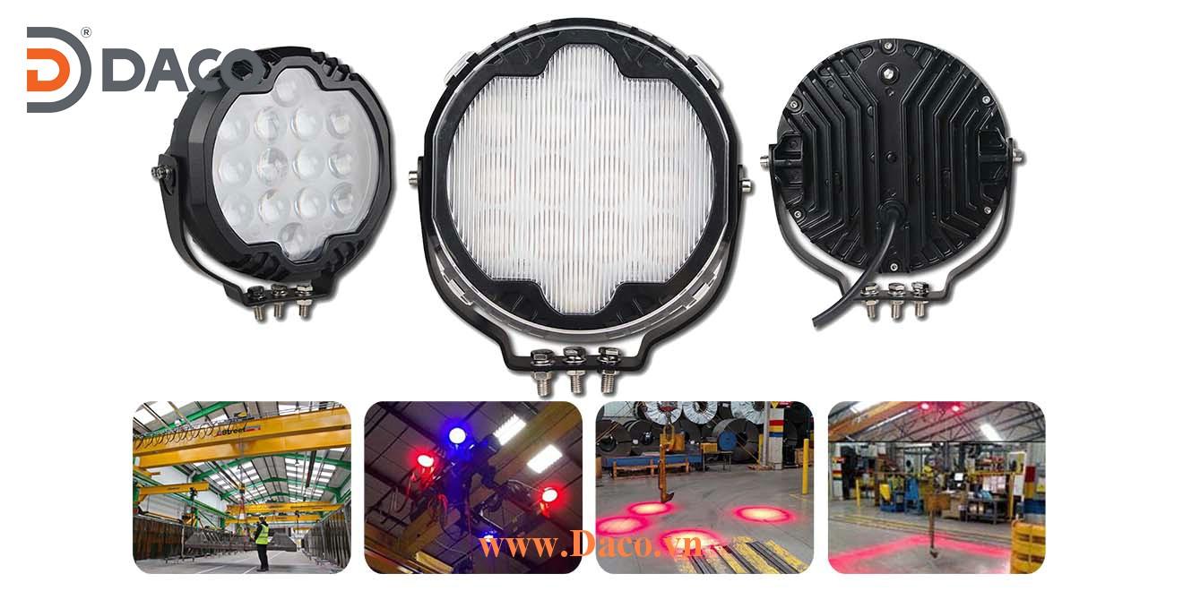 CRSZSLBL14L-140W-R Đèn báo vùng an toàn cho Cổng trục LED, Xanh Blue, Ánh sáng điểm/đường thẳng 1400lm, 9-32VDC, 140W, IP67