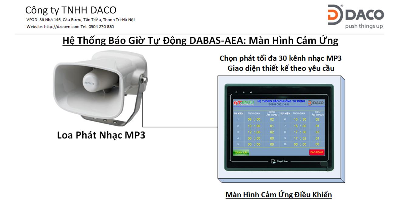 DABAS-AEA-HMI Hệ thống báo giờ tự động bằng nhạc chuông cho nhà máy, trường học