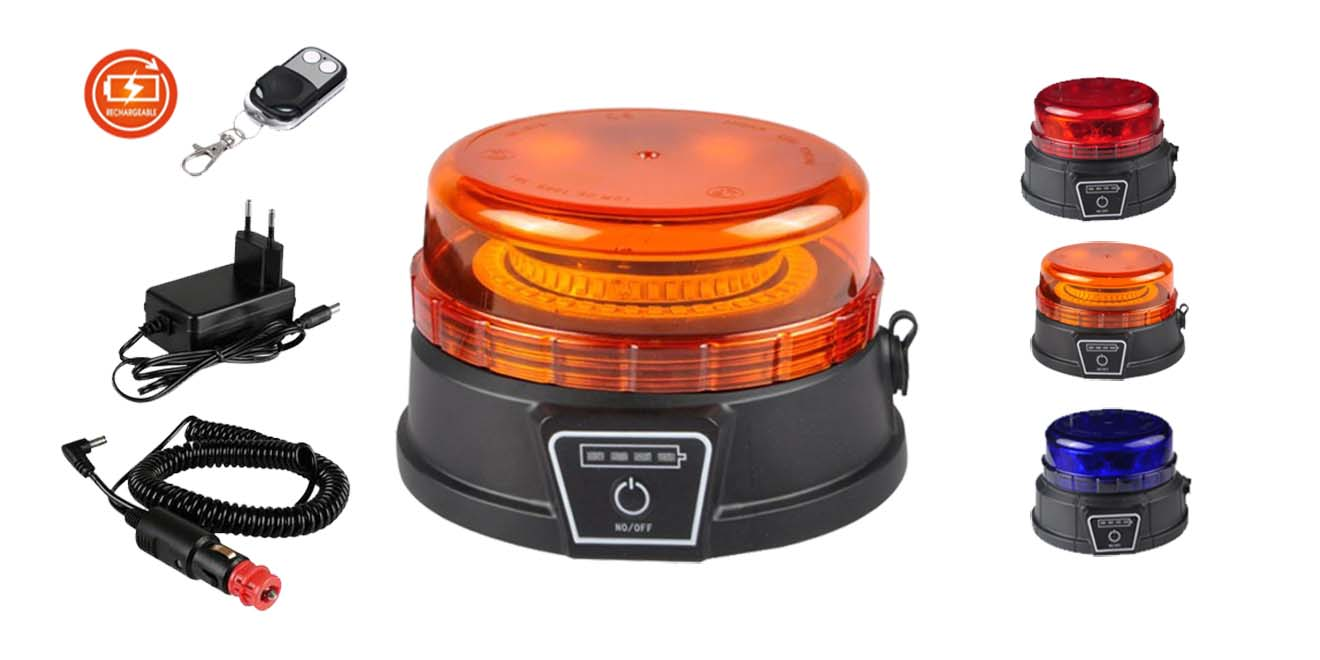 KF-WB-400SWB-RE Đèn báo xạc pin 88xΦ131 Nam châm hút dính, Pin xạc, Điều khiển từ xa