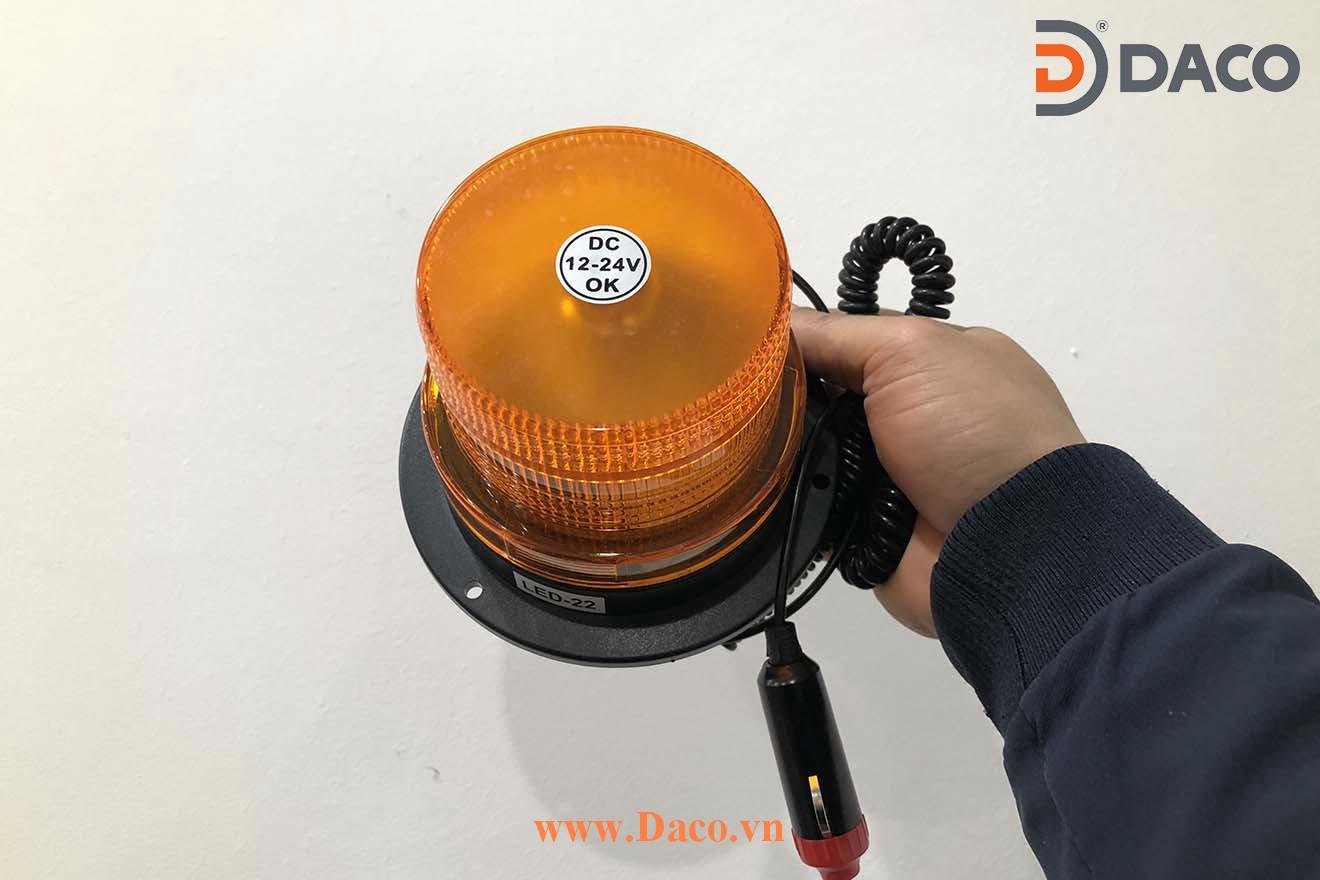 LED-13-Y Đèn báo hiệu cho xe Φ130 LED 12/24VDC Tẩu nguồn