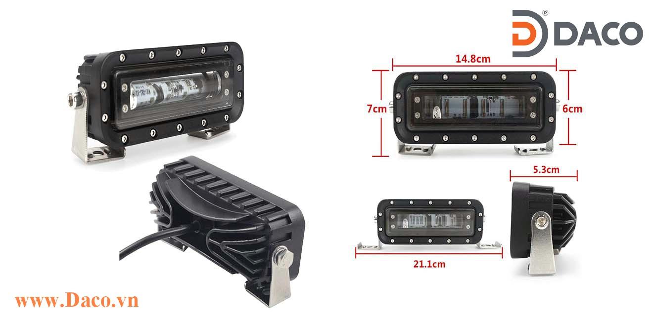 FLSZBL-8185B-30W Đèn vạch vùng an toàn cho xe Forklift, LED Osram, Xanh Blue, Ánh sáng đường thẳng, 10-60VDC, 30W, 148x60x53mm, IP67