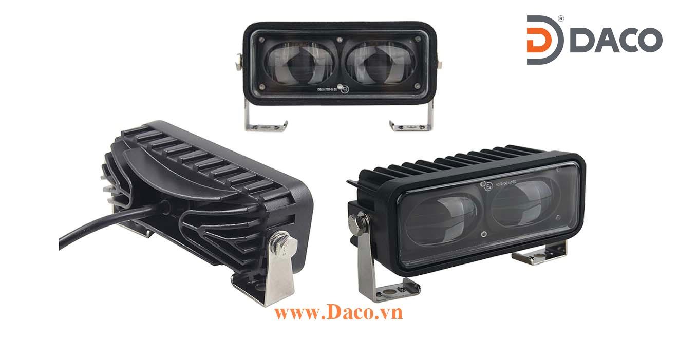 Đèn vạch vùng an toàn cho xe Forklift FLSZBL-TPB18W-B LED Osram, Xanh Blue, Ánh sáng đường thẳng, 10-80VDC, 18W, 152x60x57mm, IP67