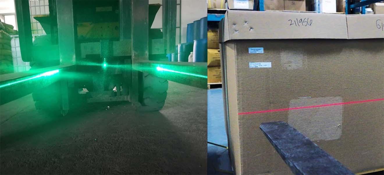 FLSZAL-XRL1081P Đèn vạch căn chỉnh vị trí càng xe nâng an toàn cho xe Forklift Lazer, Đỏ, Ánh sáng đường thẳng