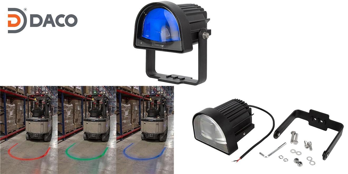 Đèn rọi vùng an toàn chữ U cho xe Forklift FLSZUL-1081M-B LED, Xanh Lam, 10-80VDC, 10W, IP67