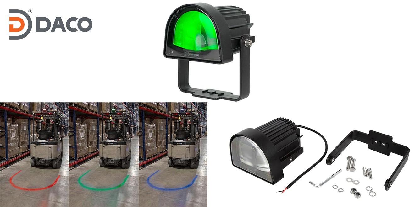 Đèn rọi vùng an toàn chữ U cho xe Forklift FLSZUL-1081M-G LED, Xanh lá, 10-80VDC, 10W, IP67