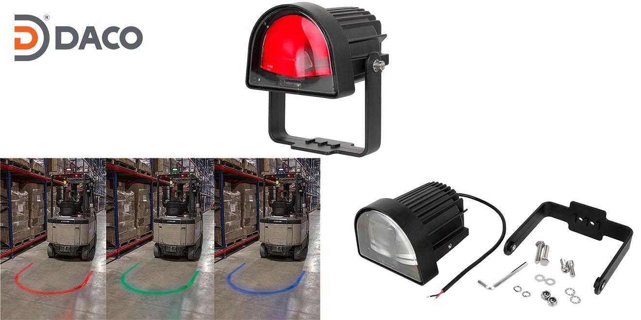 Đèn rọi vùng an toàn chữ U cho xe Forklift FLSZUL-1081M-R LED, Đỏ, 10-80VDC, 10W, IP67