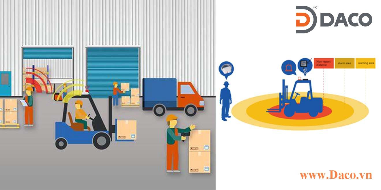 Giải pháp an toàn tại nơi làm việc giảm thiểu rủi ro va chạm giữa xe nâng và con người tại nơi làm việc