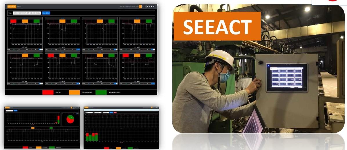 giai phap nha may thong minh - Hệ thống Quản lý Năng Suất Các Máy Làm Lốp SEEACT-SCADA: Tính toán năng suất đựa trên biểu đồ nhiệt độ của hệ thống máy làm Lốp: