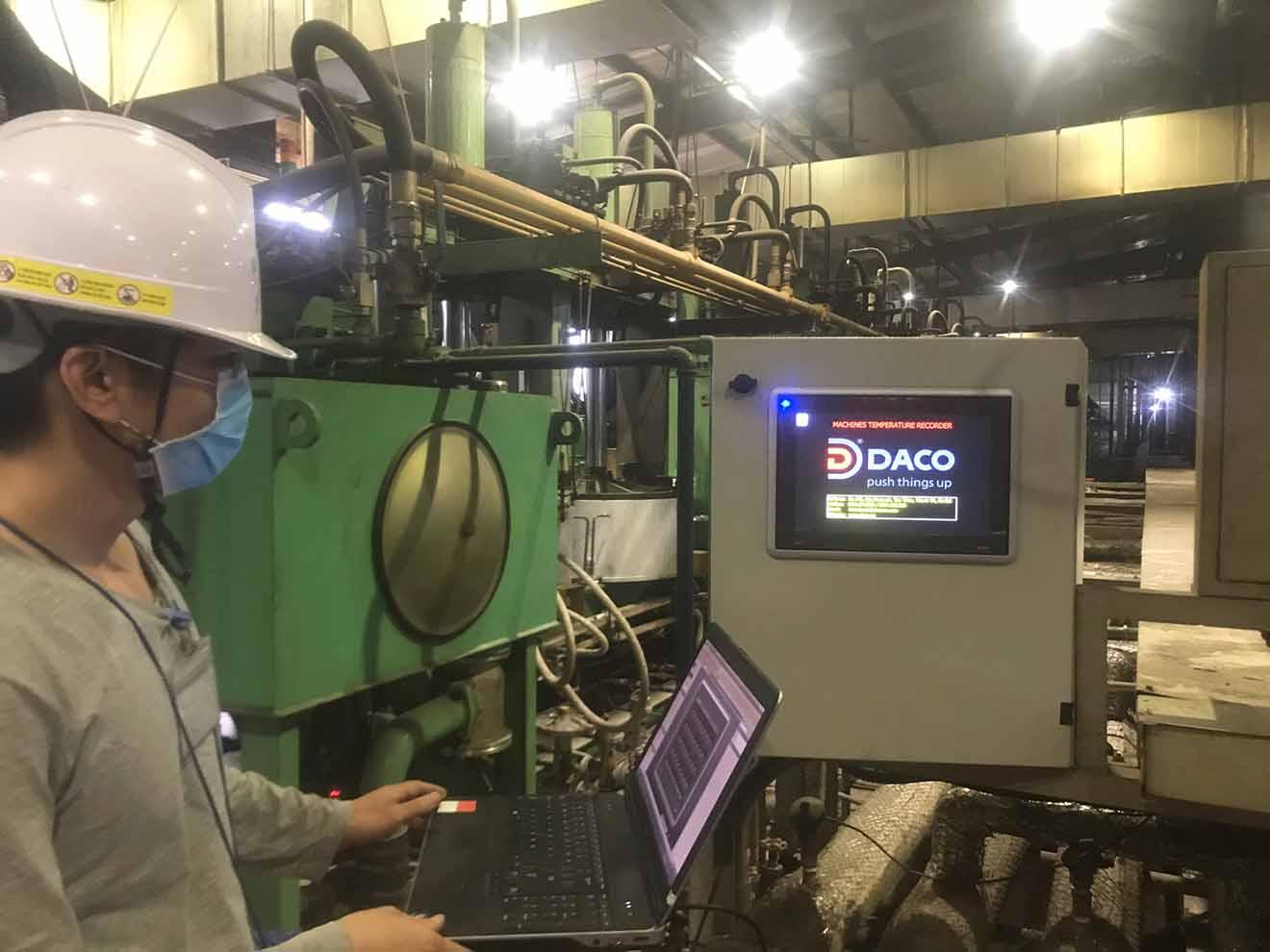SEEACT-SCADA-Tire Hệ thống quản lý giám sát nhiệt độ & đếm sản phẩm máy lò làm lốp xe: Thực tế