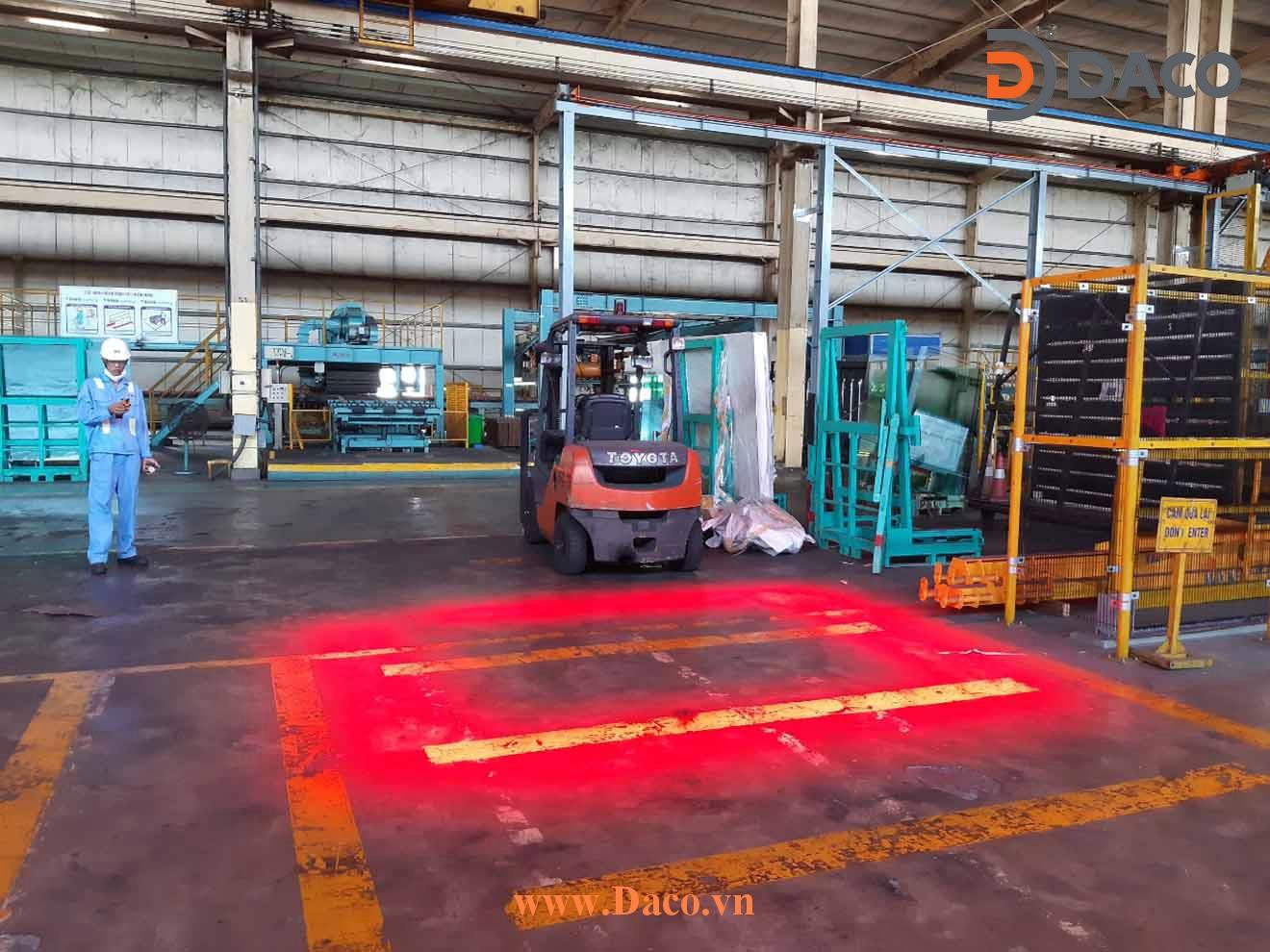 CRSZSLBL24L Đèn báo vùng an toàn cho Cổng trục LED-Lắp Đặt Thực Tế