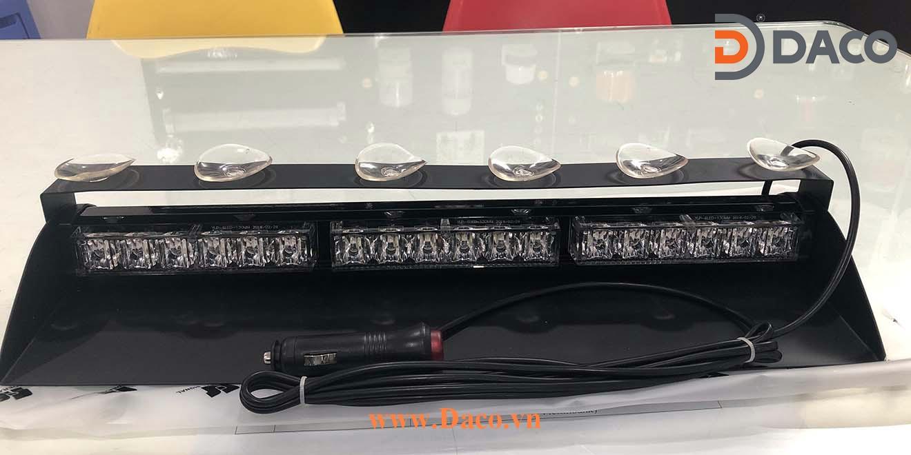 Đèn Trong Kính LED336H Xe Ưu Tiên Xanh-Trắng-Đỏ Gắn Trong Xe Ô Tô–Lắp Tap Lô LED-336H