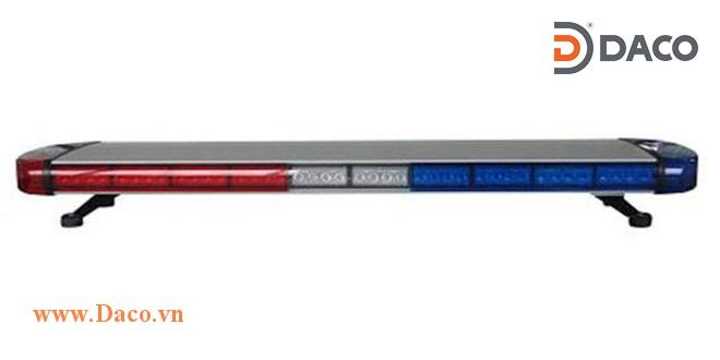 TBD-8300L-RB Đèn hộp dài xe ưu tiên LED, Đỏ-Xanh, Sáng nhấp nháy, 12VDC, dài 120x30.5x11cm