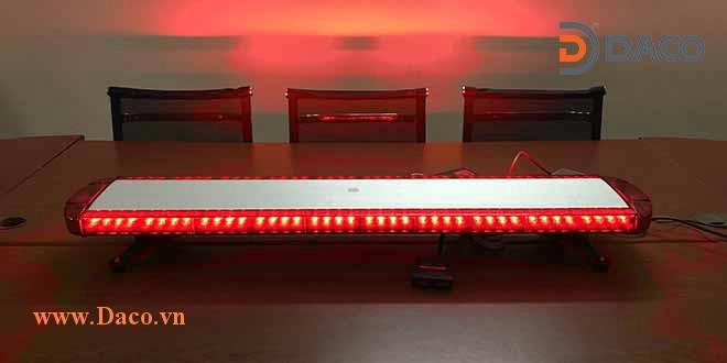 TBD-8400H-RR Đèn hộp dài xe ưu tiên LED, Đỏ-Đỏ, Sáng nhấp nháy, 12VDC, dài 120x26x13cm