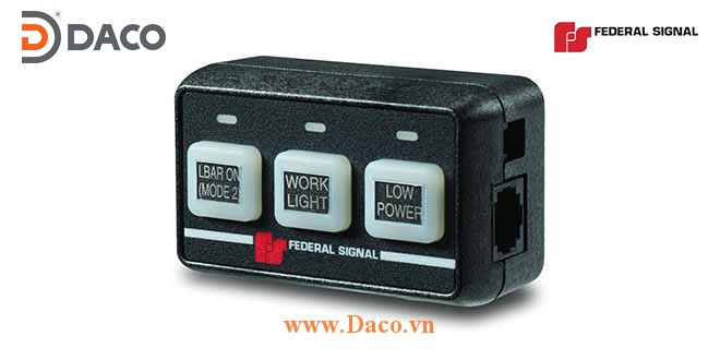 Three-Button Controller Bộ điều khiển chế độ đèn 3 nút nhấn Lightbar Federal Signal
