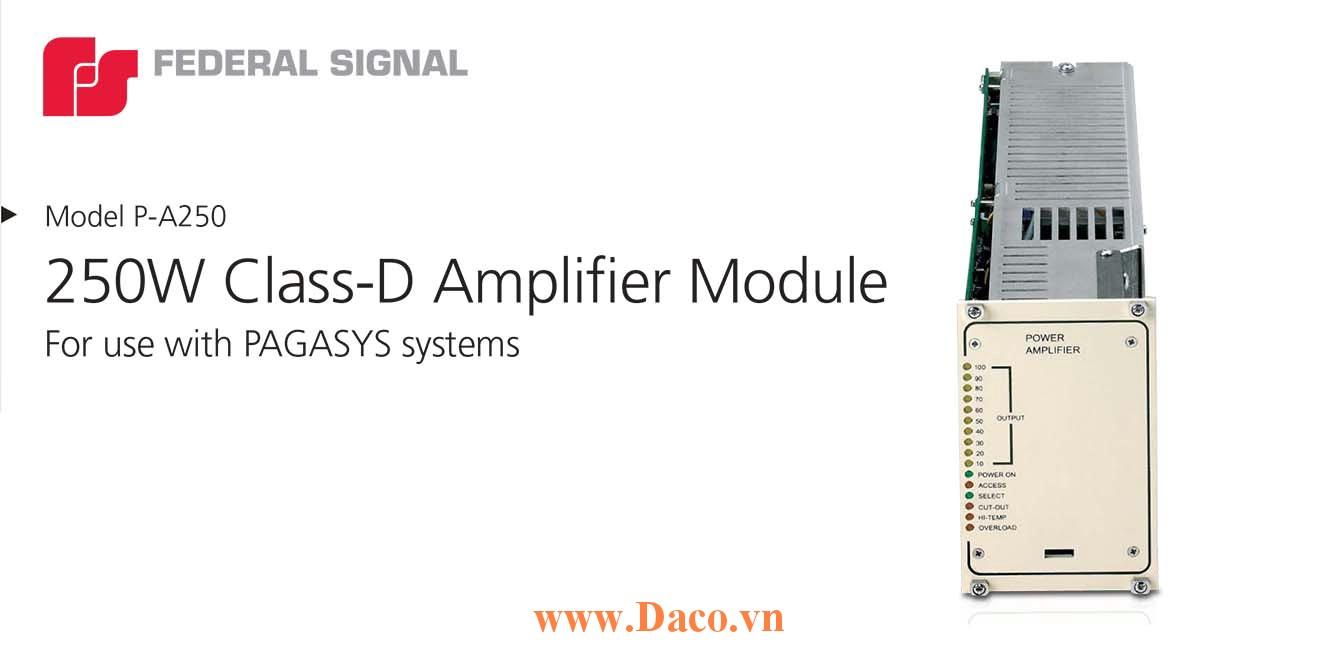 P-A250 Bộ khuếch đại âm thanh tủ PAGASYS Gen I-Federal Signal Công suất 250W