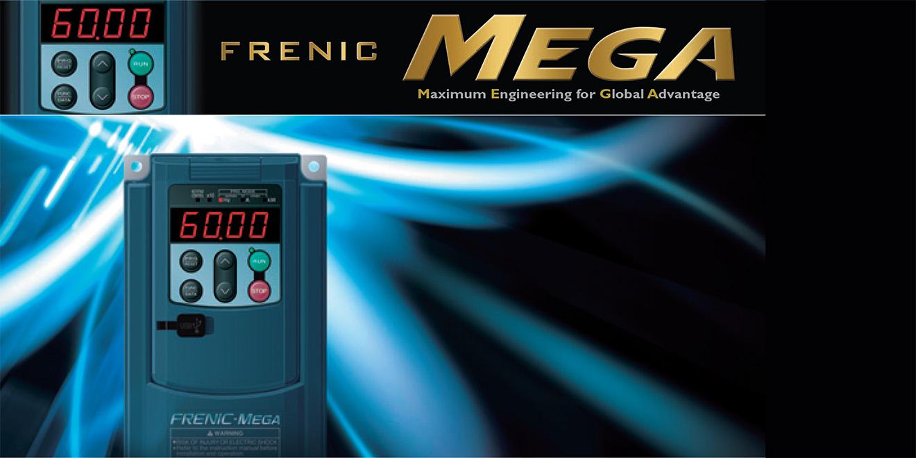 Biến tần Fuji Frenic Mega 0.4kW-75kW loại 3 Pha 380VAC tích hợp bộ lọc EMC