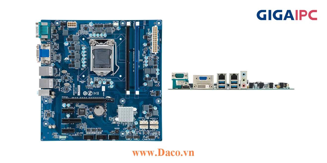 uATX-H110A Main máy tính công nghiệp Intel® Core™ Processor thế hệ 6th, 7th, 2xDDR4 RAM, PCIe Slot, 2xGbE LAN, 4xCOM, 6xUSB, 4xSata 6Gb/s