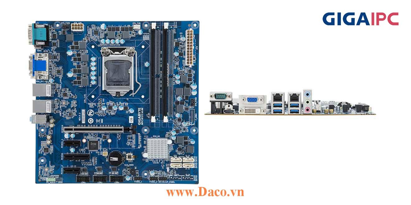uATX-H370A Main máy tính công nghiệp Intel® Core™ Processor thế hệ 8th, 2xDDR4 RAM, PCIe Slot, 2xGbE LAN, 4xCOM, 10xUSB, 6xSata 6Gb/s
